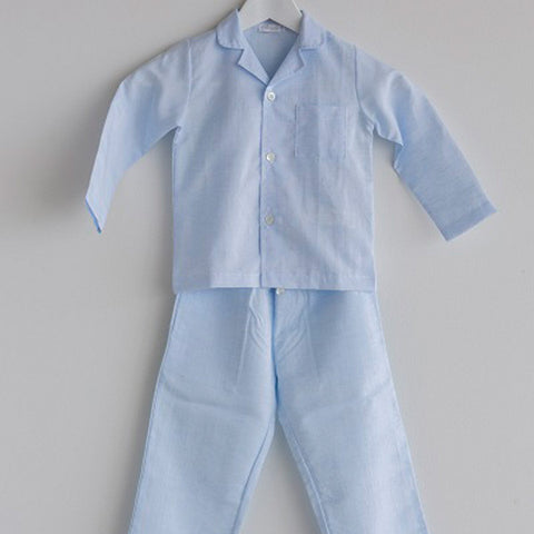 Boys Pajama Linen Blend Long