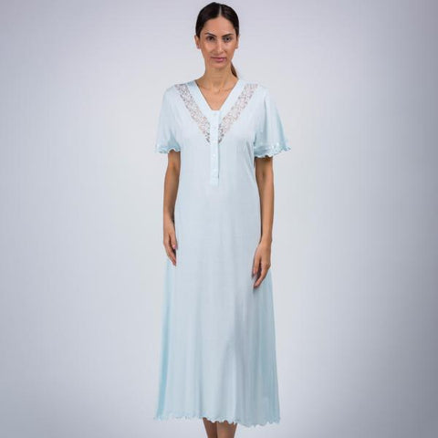 BEM Ladies V-Neck Full Night Gown