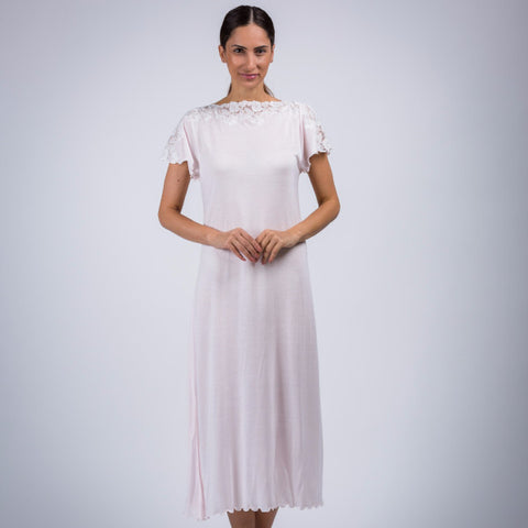 BEM Jersey Boat Neck Night Dress