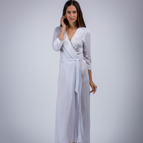BEM Ladies Lace Cross Over Robe