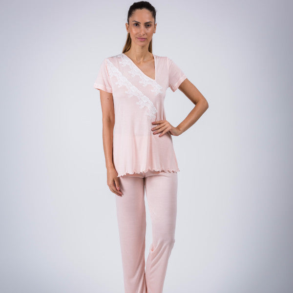 BEM Ladies Lace  Micromodal Pajama Display Item