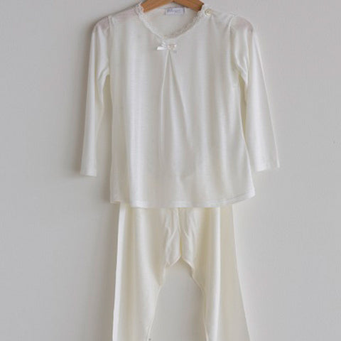 Girls Pajama Long Cream