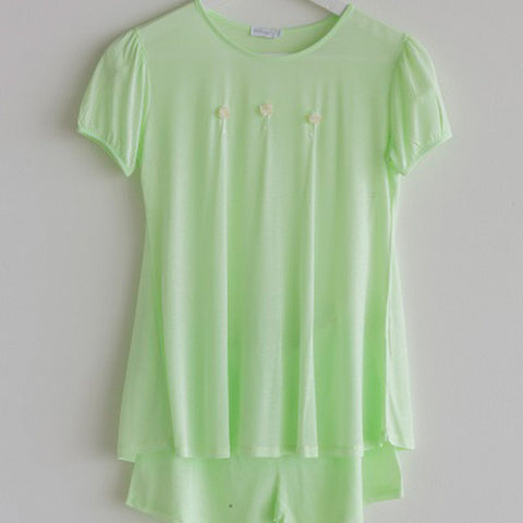 Girls Pajama Short Green