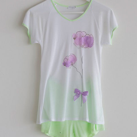 Girls Pajama Short Flower