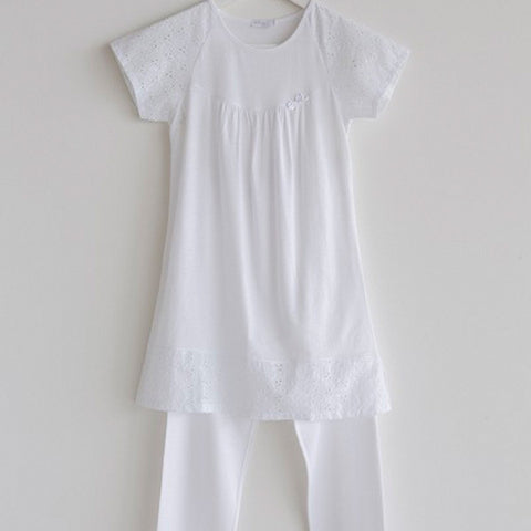 Girls Pajama White