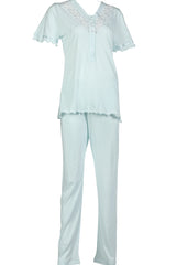 BEM Ladies Jersey w/ Button Pajama