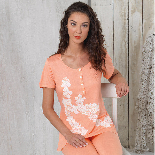 BEM Ladies Short Sleeve with Long Pant Pajama