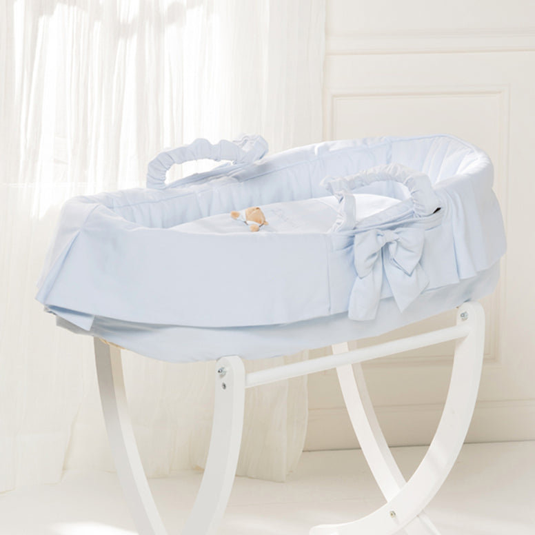 Light blue Baby Basket Puccio Star