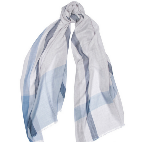 Wispy Superfine Cashmere Scarf Block Colour Begg & Co