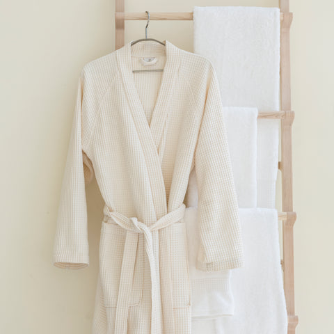 BEM Adult Kimono Bathrobe Natural