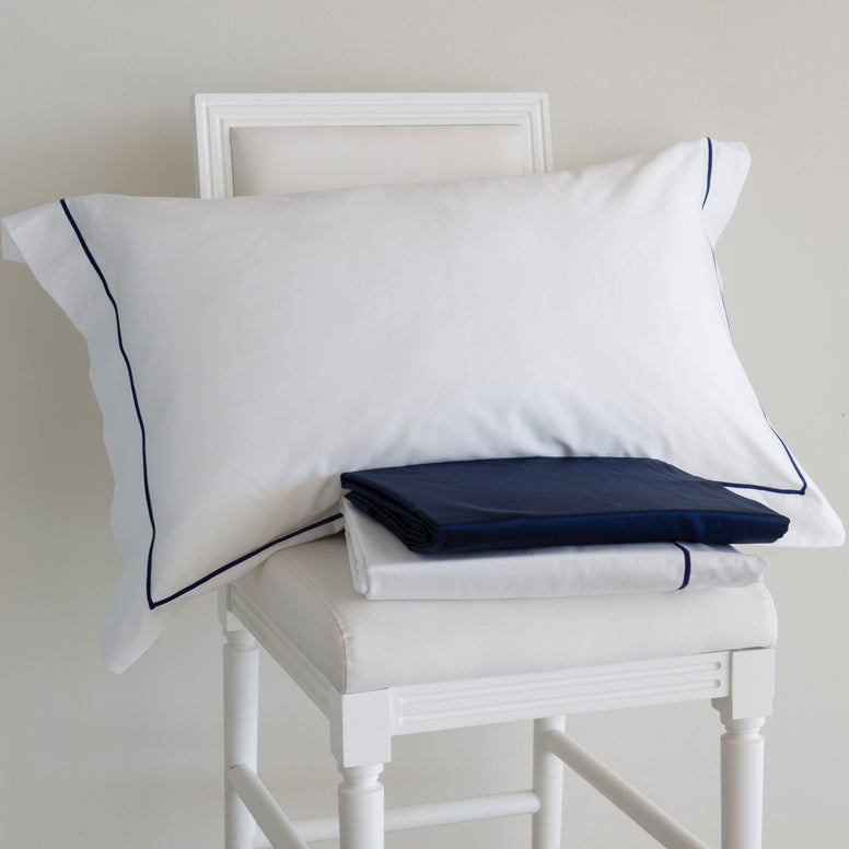 BEM Polo Navy Satin  King Duvet Cover
