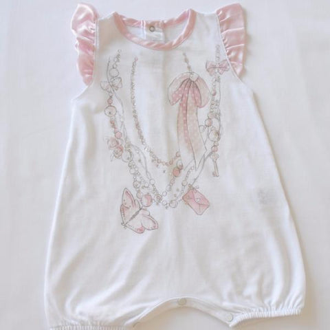 Baby New Born Romper Girls White