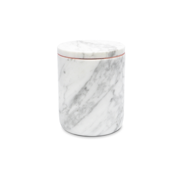Marble Candle Holder Carrara The Luxuriate