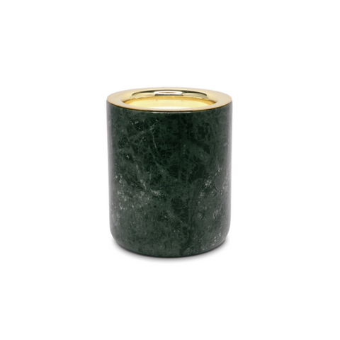 Marble Candle Holder Green The Luxuriate