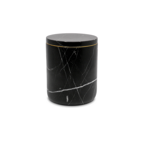 Marble Candle Holder Nero Marquina The Luxuriate
