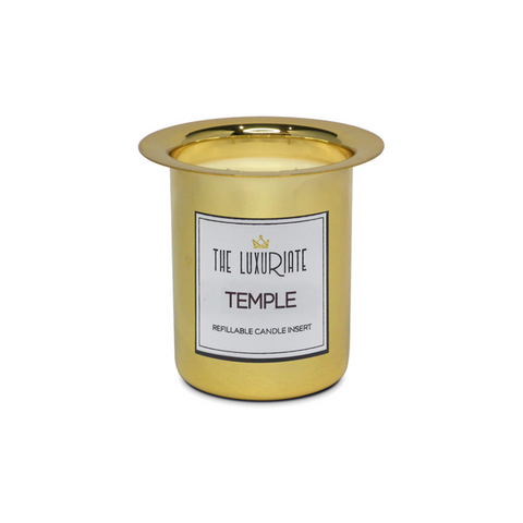 Scented Candle Insert The Luxuriate Temple