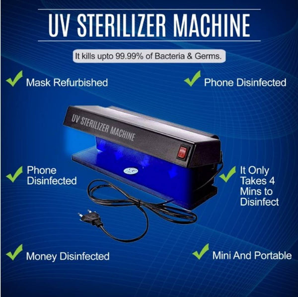 Kumaka UV Light Sterlizer/Sterlization/Sanitizer Portable Box For Cell Phone, Bottle Nipples, Mask, Baby Pacifier Kills Germs Viruses & Bacteria.(Made In India)