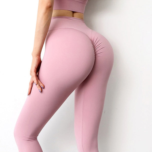 SOISOU New Yoga Pants Women Leggings For Fitness Nylon High Waist Long Pants Women Hip Push UP Tights Women Gym Clothing