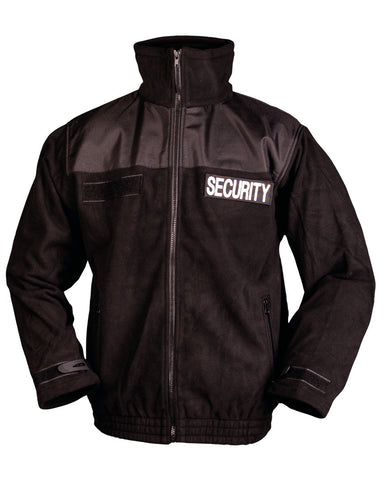 SECURITY FLEECEJACKE SCHWARZ