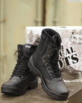 TACTICAL BOOT MIT ZIPPER SCHWARZ