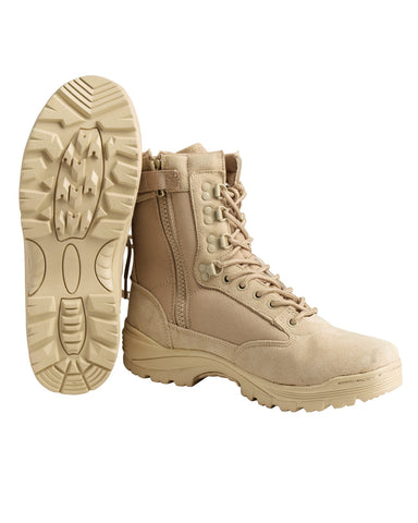 TACTICAL BOOT MIT ZIPPER KHAKI