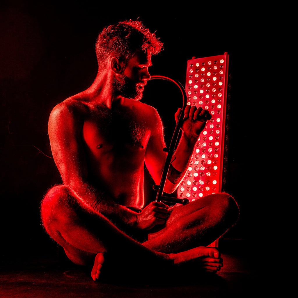 Red light therapy in use