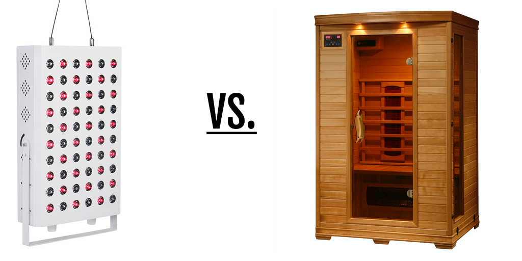 Red light therapy versus infrared saunas