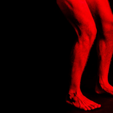 Red light therapy on leg