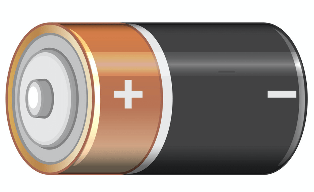 Battery with a charge