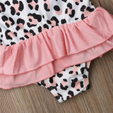 Pink Leopard Toddler Tutu Swimwear