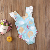 Sea Shell Ruffled Baby/Toddler Swimsuit
