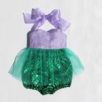 Baby Girl Mermaid Style Swimsuit