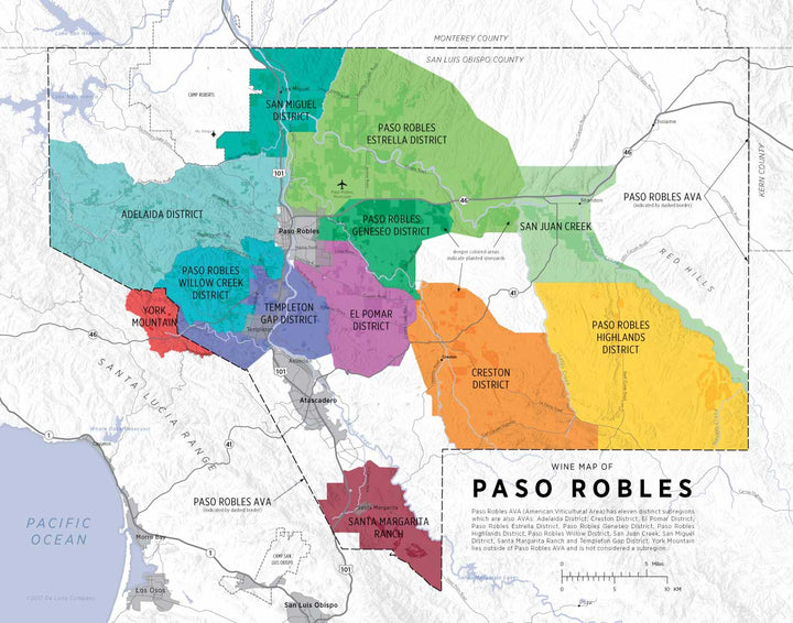 Wine Map of Paso Robles