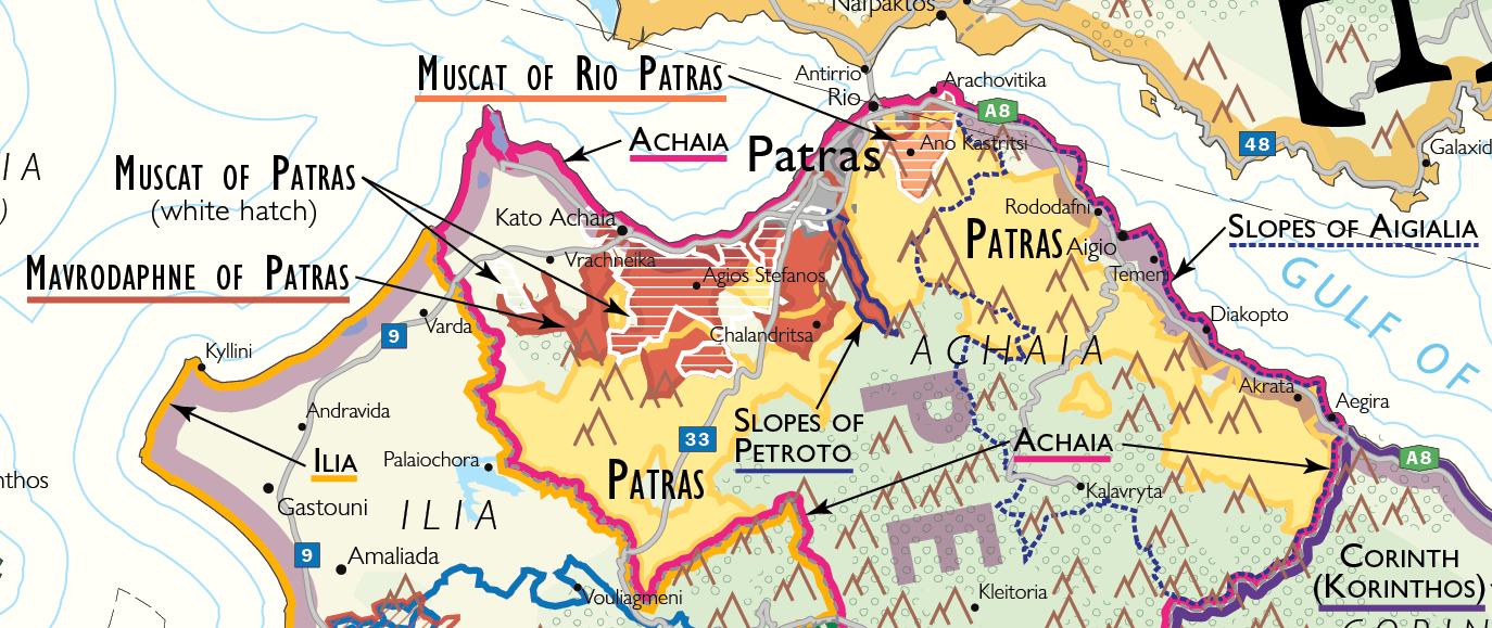 Wine Map of Patras