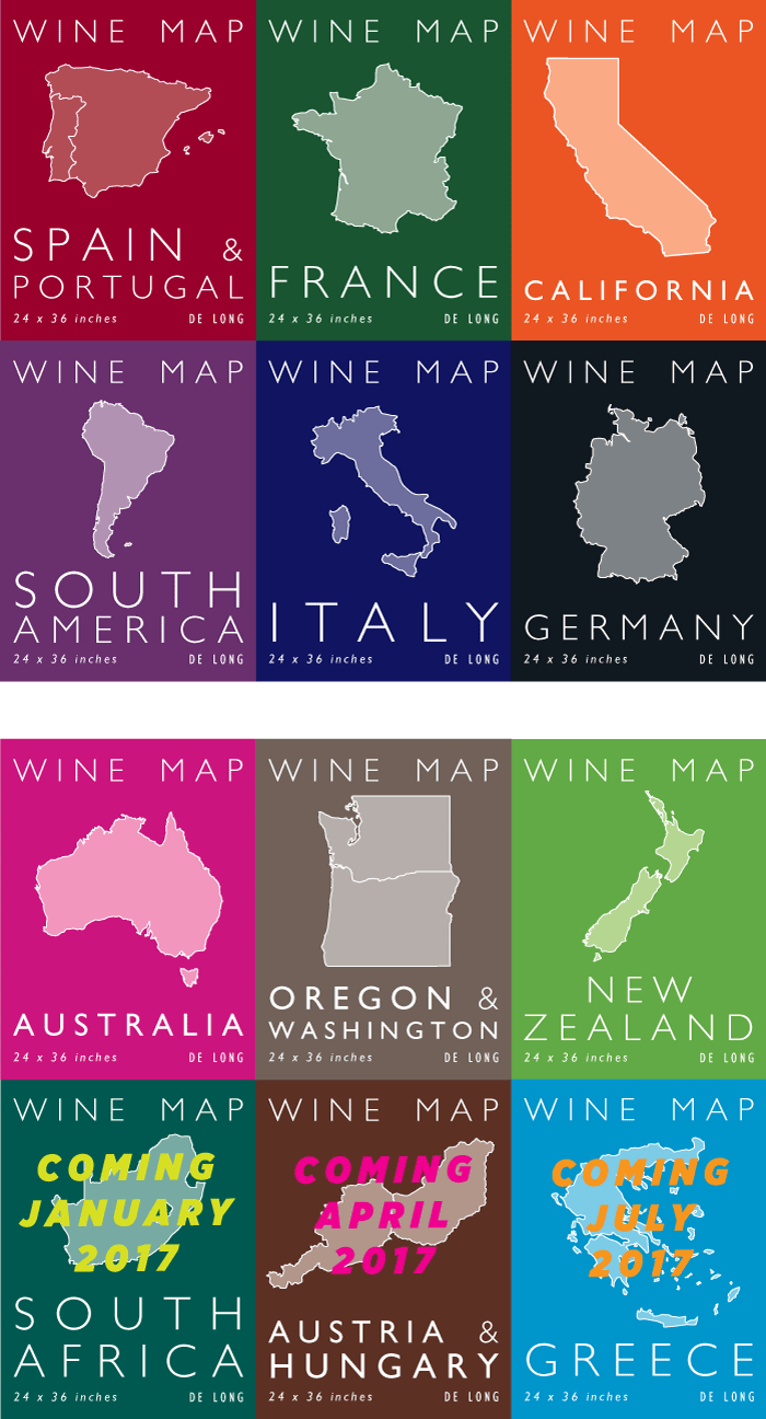 De Long Wine Maps