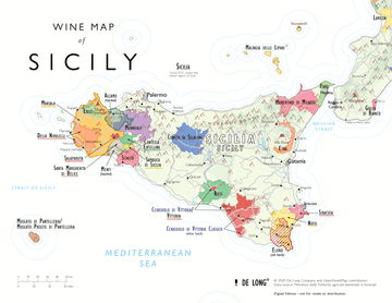 Wine Map of Sicily - Digital Edition - Free