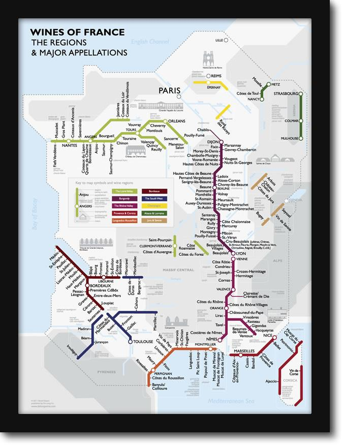 Metro Wine Map of France – French Tube Map