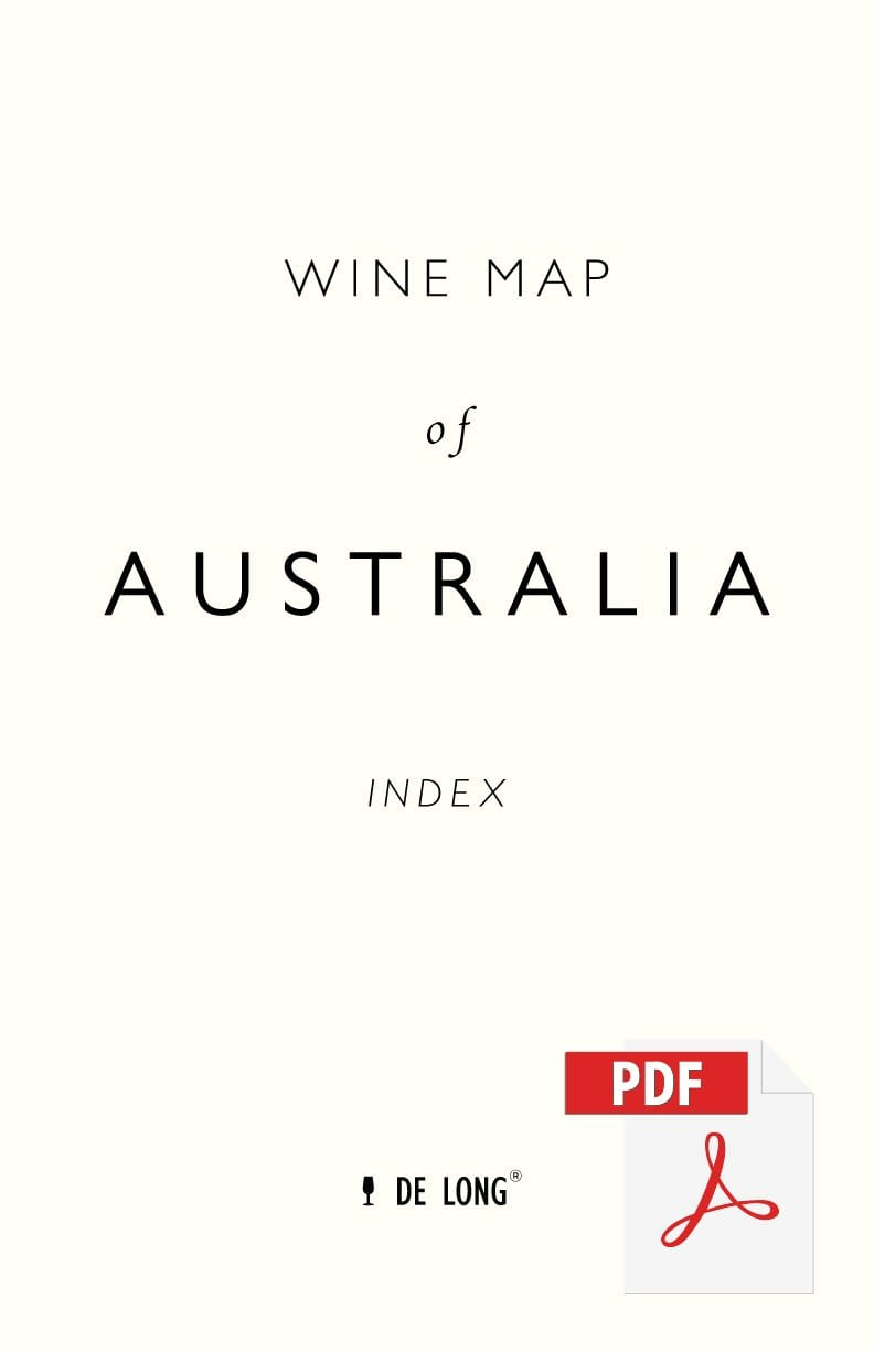 Wine Map of Australia - Digital Edition Index