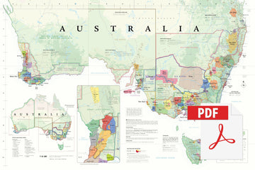 Wine Map of Australia - Digital Edition