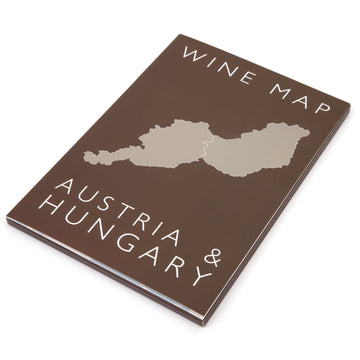 Wine Map of Austria and Hungary Bookshelf Edition Box