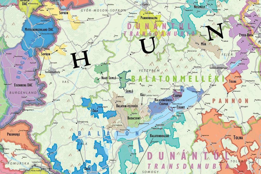 Wine Map of Austria & Hungary - Digital Edition Detail