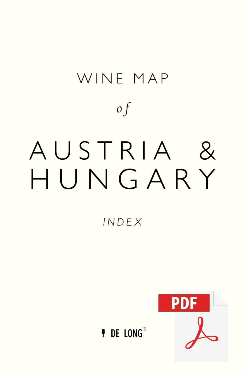 Wine Map of Austria & Hungary - Digital Edition Index