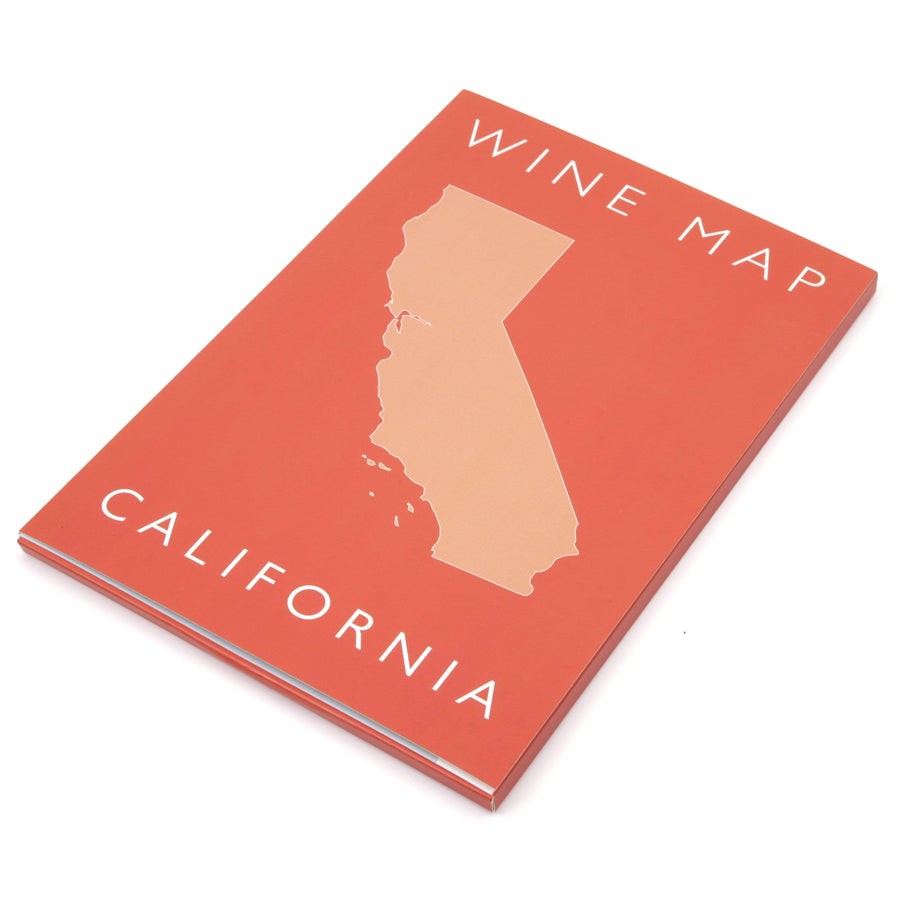 Wine Map of California Bookshelf Edition Box