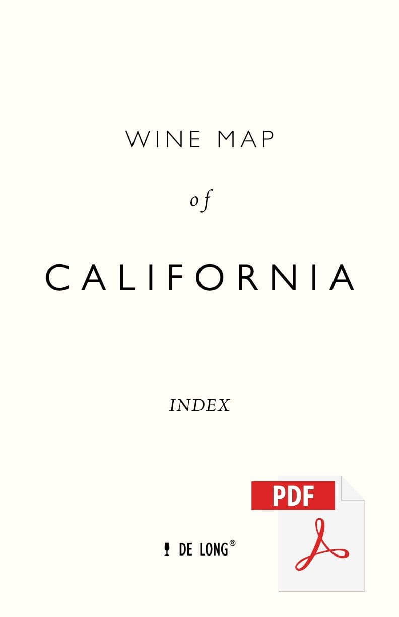 Wine Map of California - Digital Edition Index