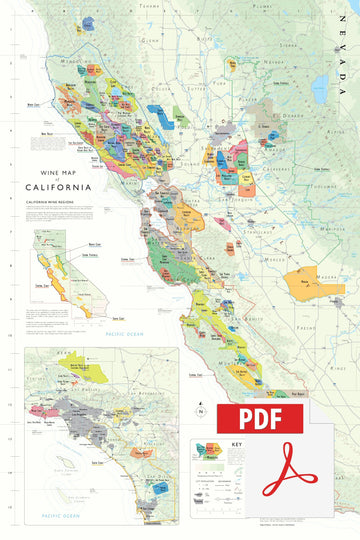 Wine Map of California - Digital Edition