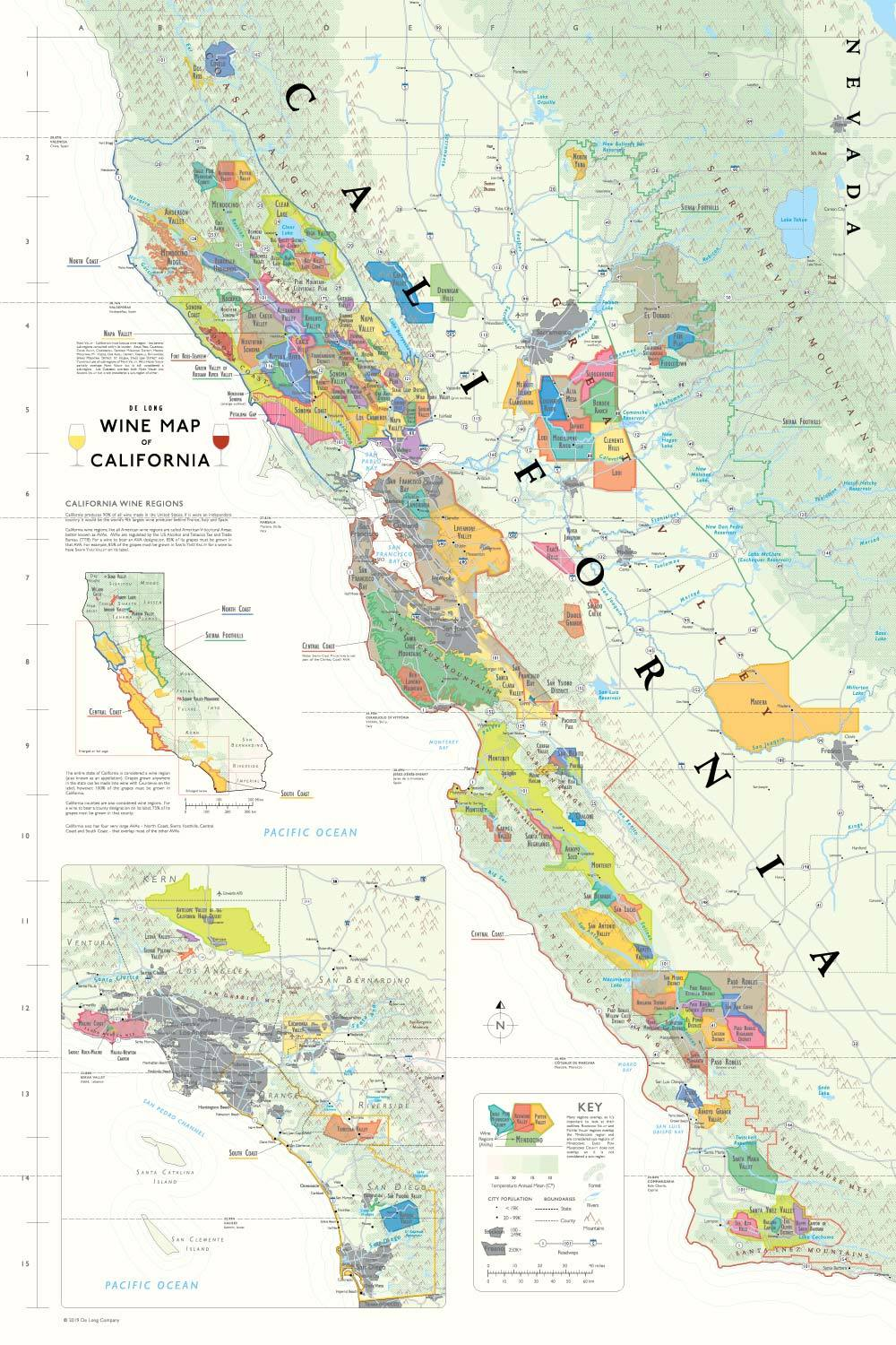 map of national parks in northern california cities on coast