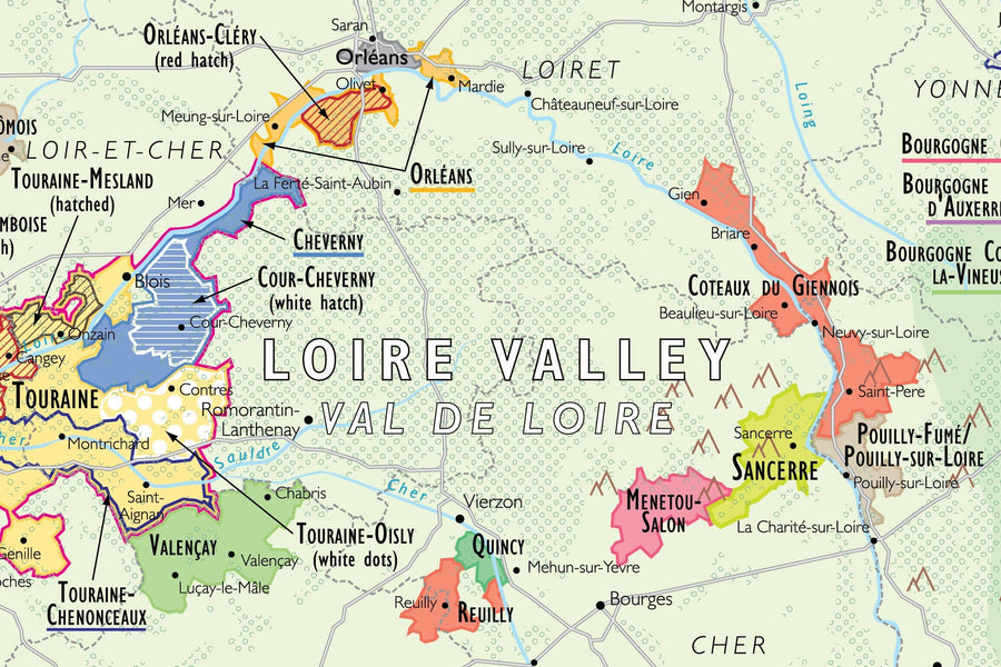 Wine Map of France detail