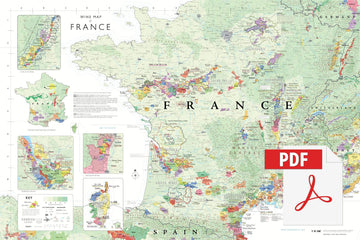 Wine Map of France - Digital Edition