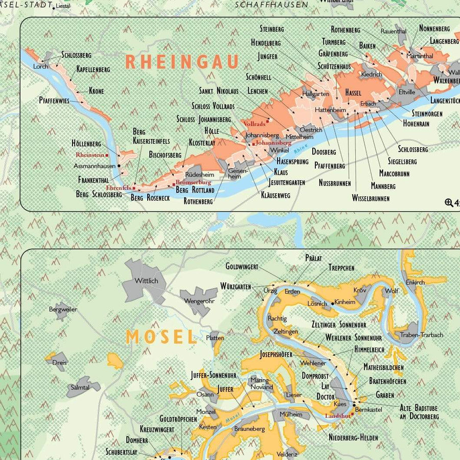 Wine Map of Germany - Digital Edition Detail