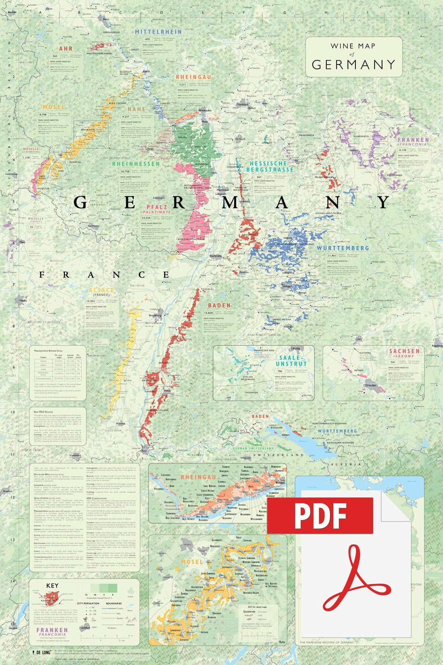 Wine Map of Germany - Digital Edition